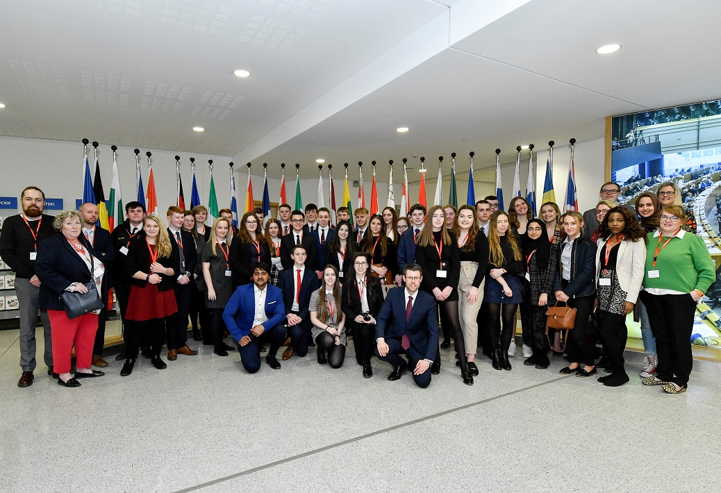 Students visit European Parliament on trip to Brussels and Ypres