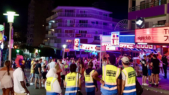 Students help holidaymakers in Magaluf